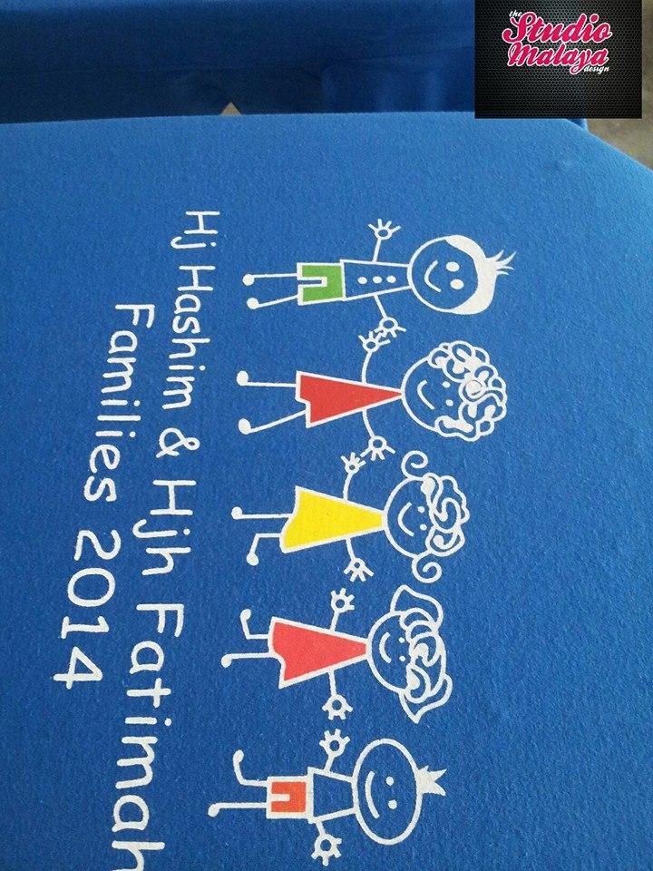 cetak tshirt family day